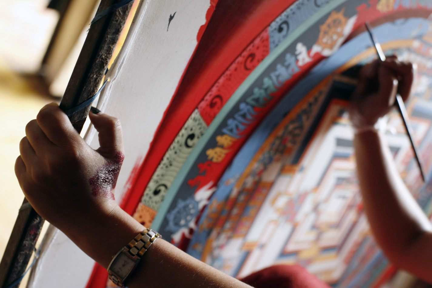 Anthony Ellis Photography: Transition - She who Paints Thangka Mandala