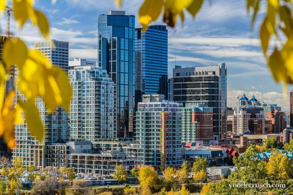 Blue Skyline     Calgary Canada
