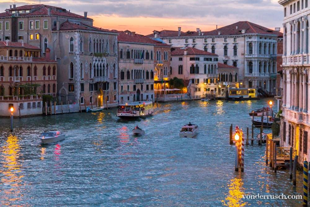 Grand Canal at Sunset     Venice Italy