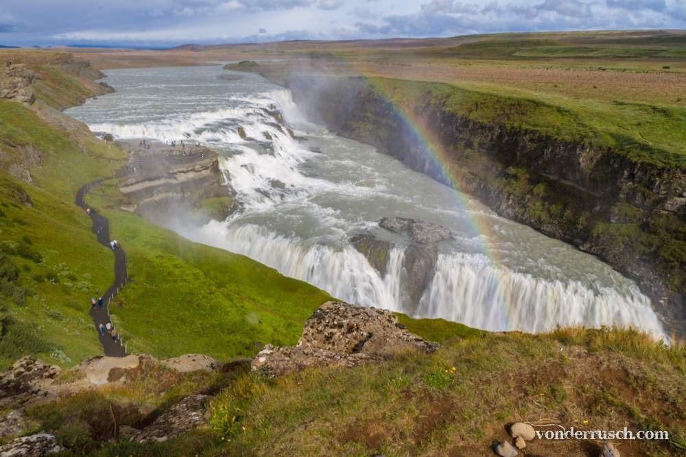 Gullfoss Rainbow Iceland