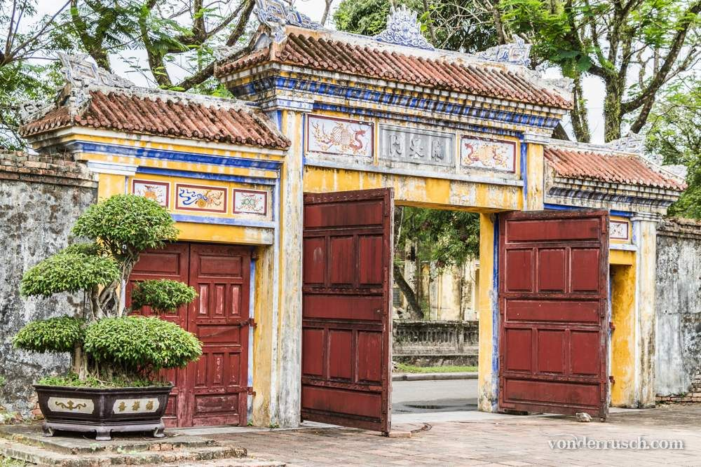 Imperial City Gate     Hue Vietnam