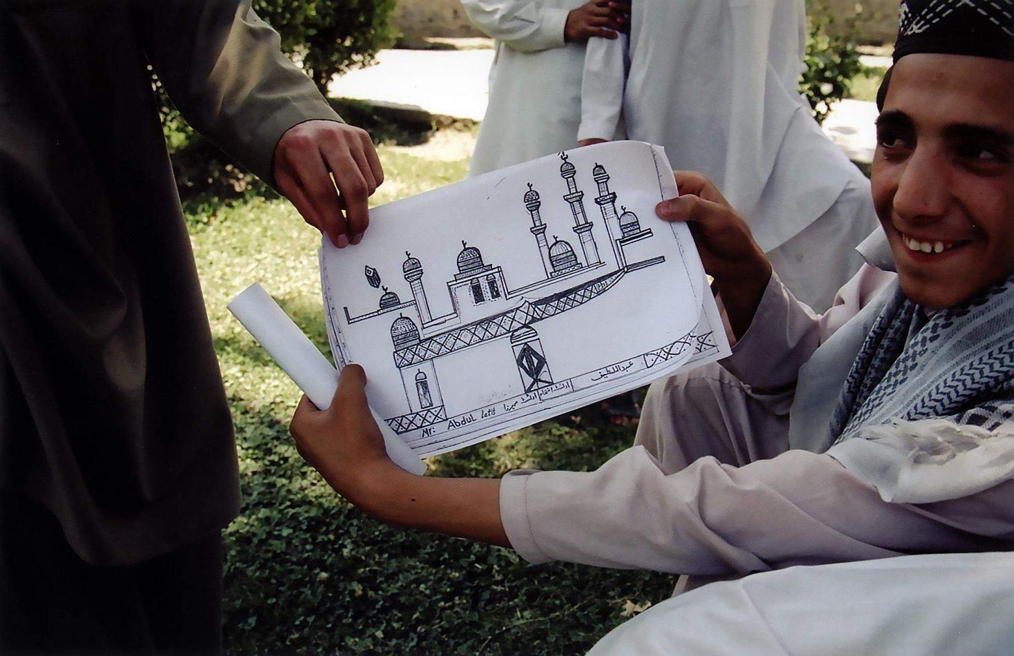 Anthony Ellis Photography: Zindabad - Sketch of Shahi Masjid