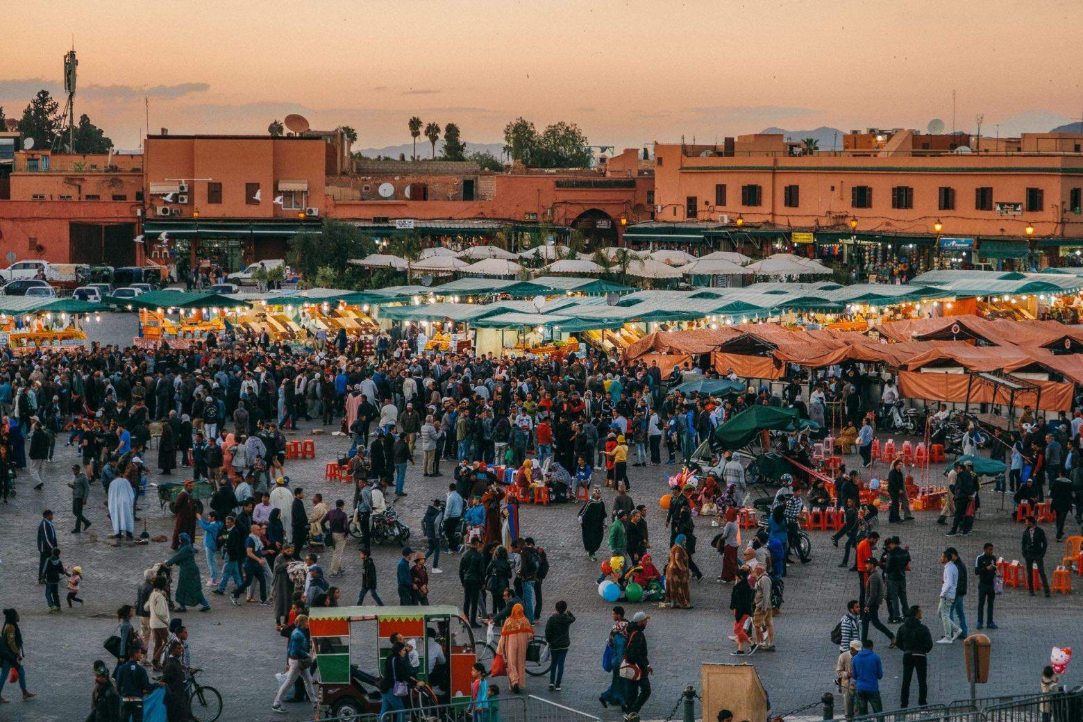 Djemaa el Fna Markplatz in Marrakesch