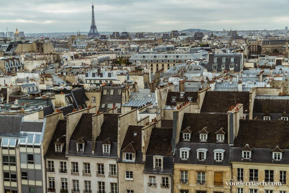 Rooftops of Paris France