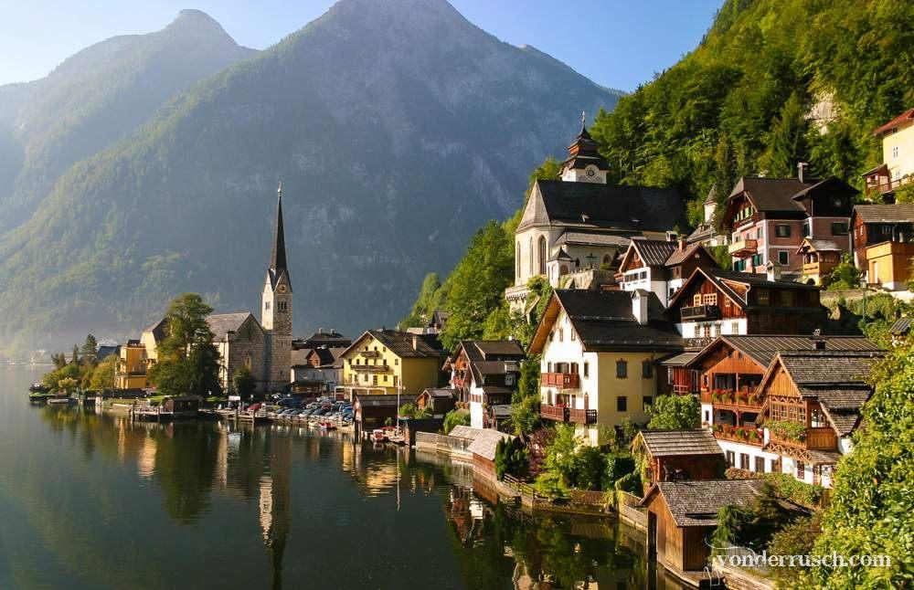Nestled in the Mountains     Hallstatt Austria