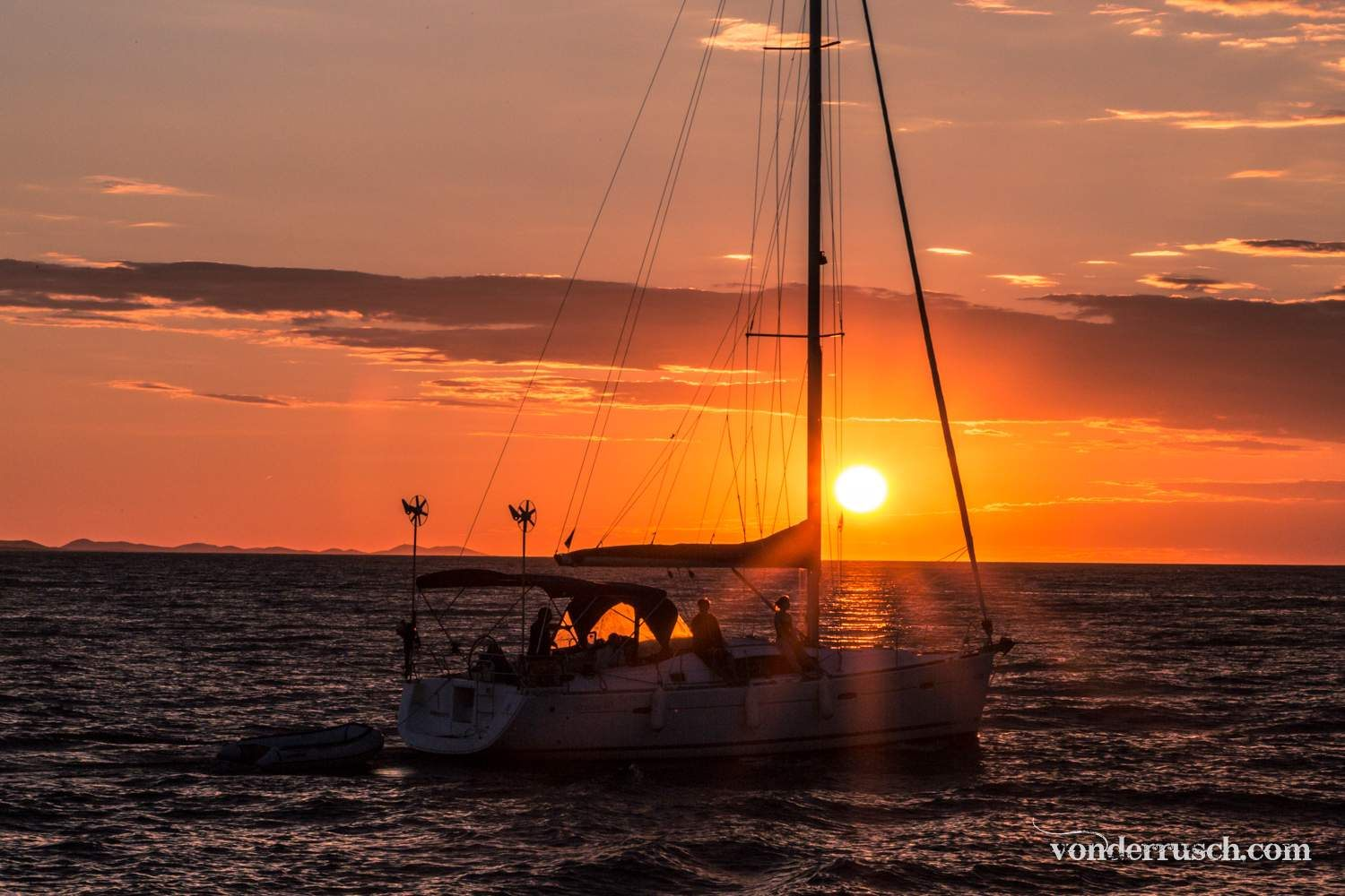 Sailing into the Sunset     Zadar Croatia