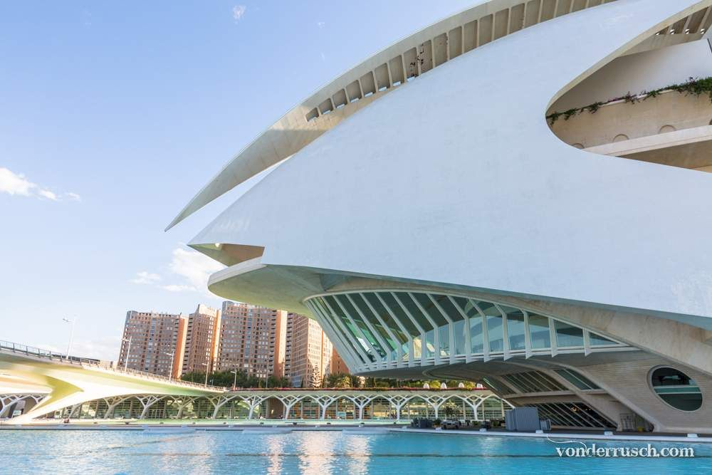 Opera House on Water     Valencia Spain