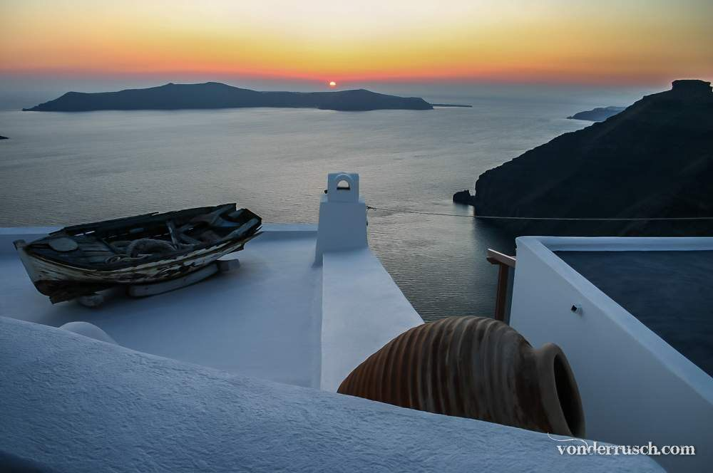 Santorini Sundown     The Cyclades Greece
