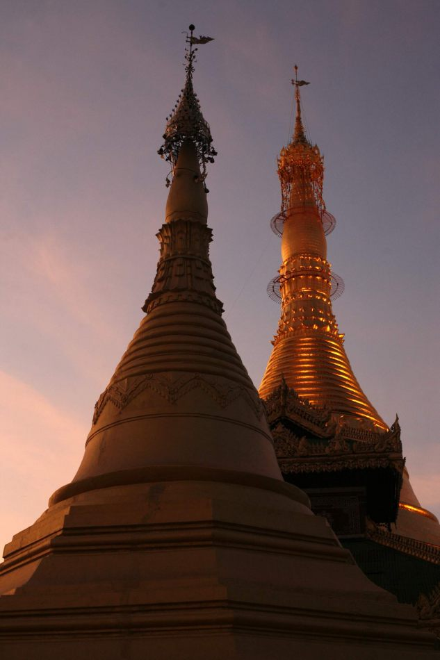 Anthony Ellis Photography: The Calm before the Storm - Sunset Stupas