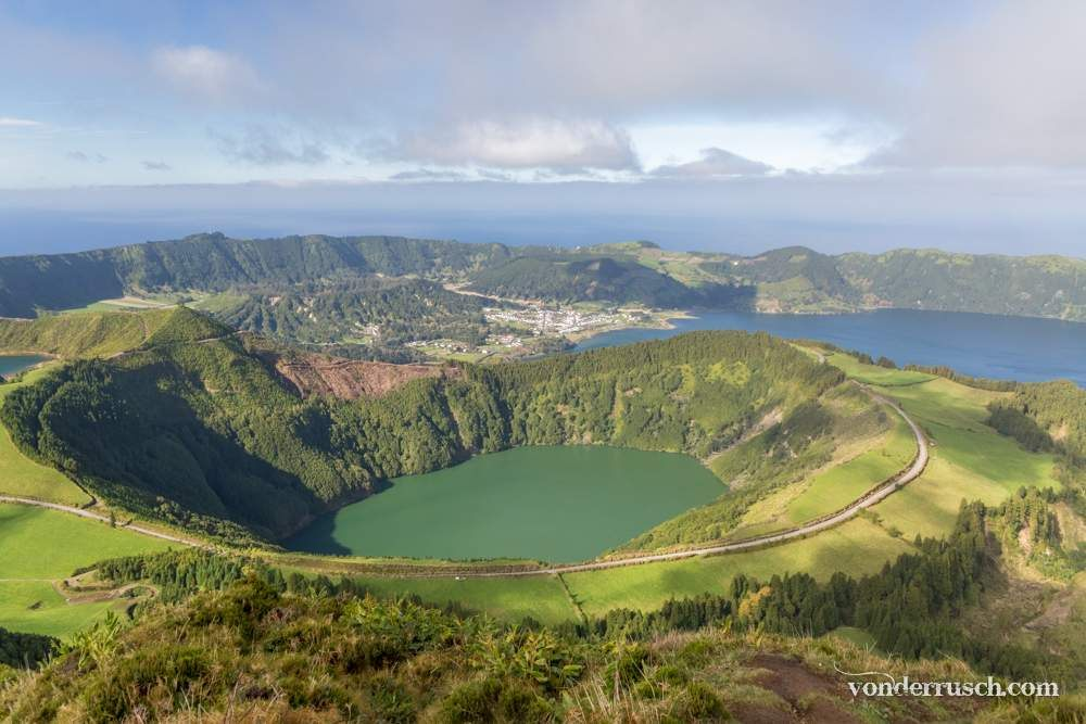 Green and Blue Crater Lakes     S� o Miguel Azores