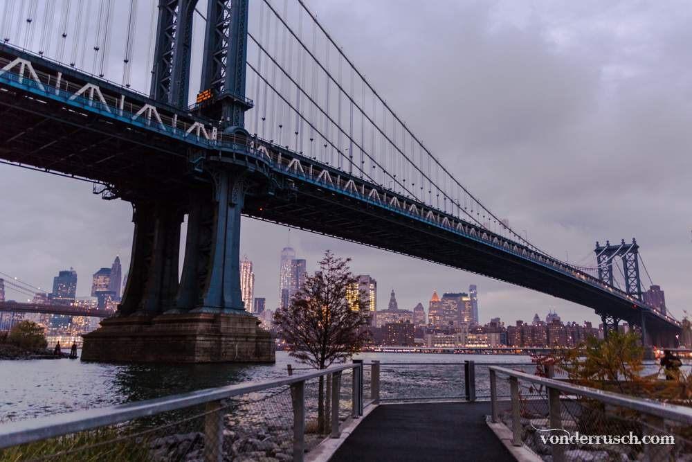 Under the Brooklyn Bridge     New York City USA