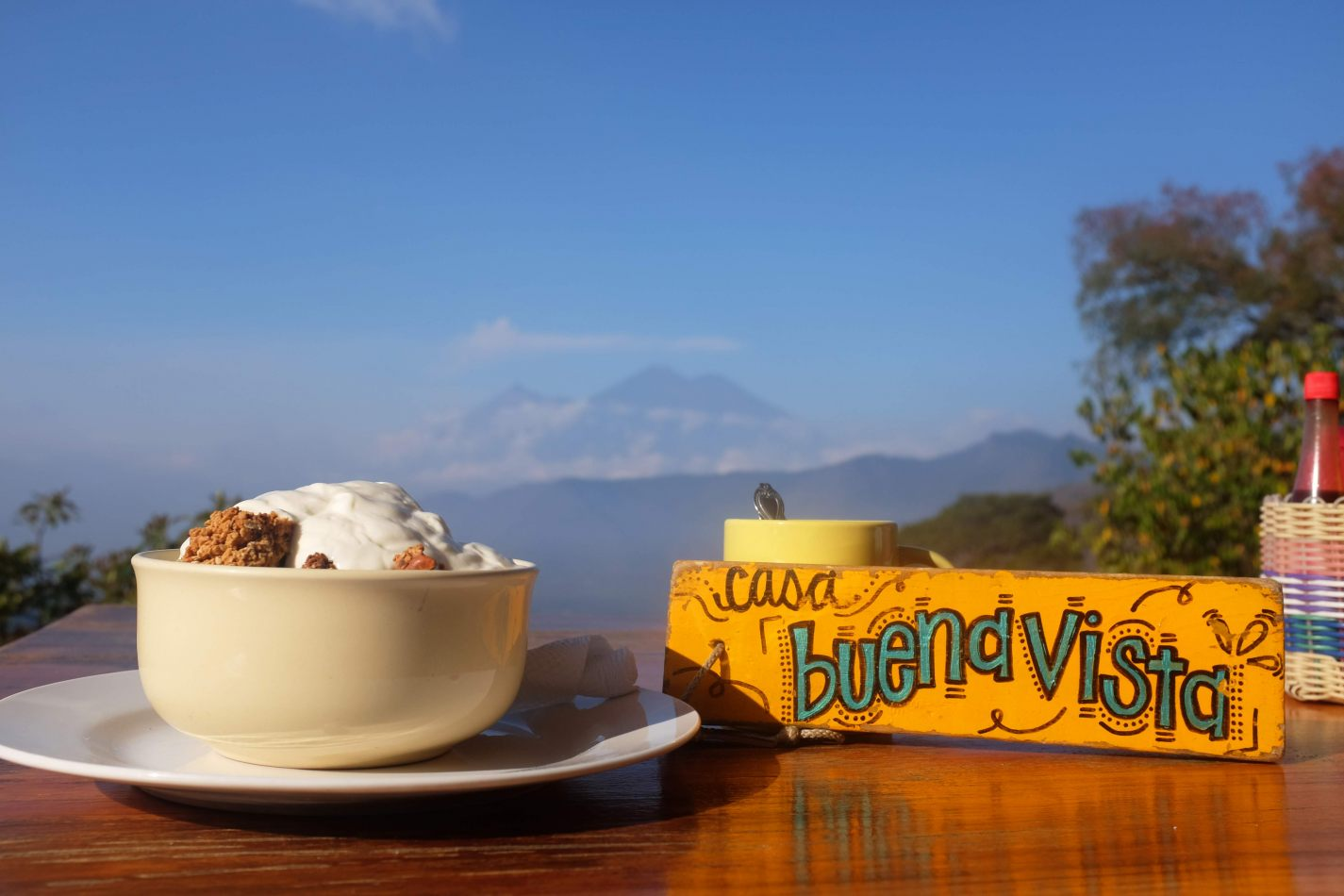 Hibiscus & Nomada : - - Granola, Fruits, Yogurt at Earth Lodge