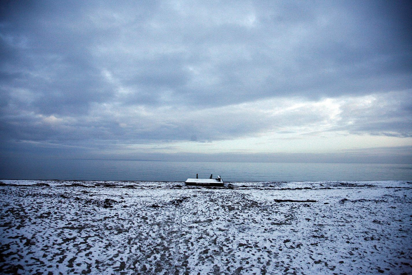 Anthony Ellis Photography: Silent Afternoons - Jetty in the Snow