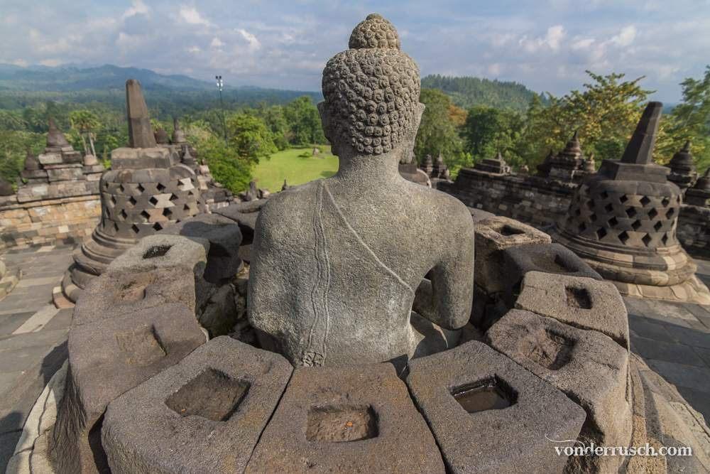Buddha Inside      Borobudur Indonesia