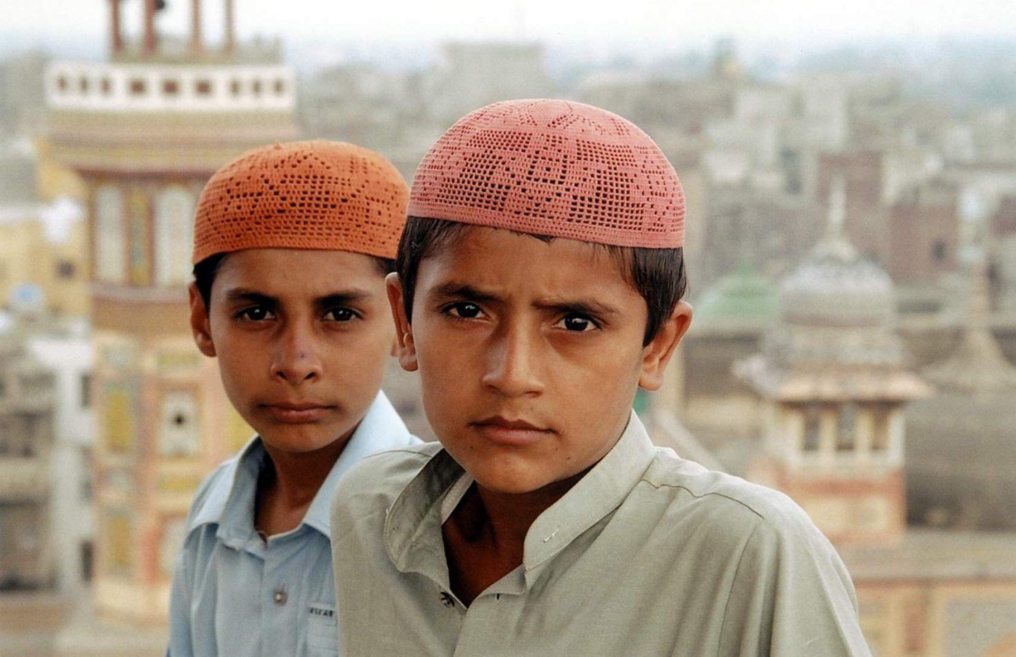 Anthony Ellis Photography: Zindabad - Two Boys at the Top of Wazir Khan Minaret