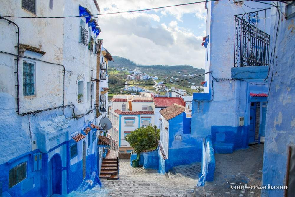 Painted Blue     Chefchaouen Morocco