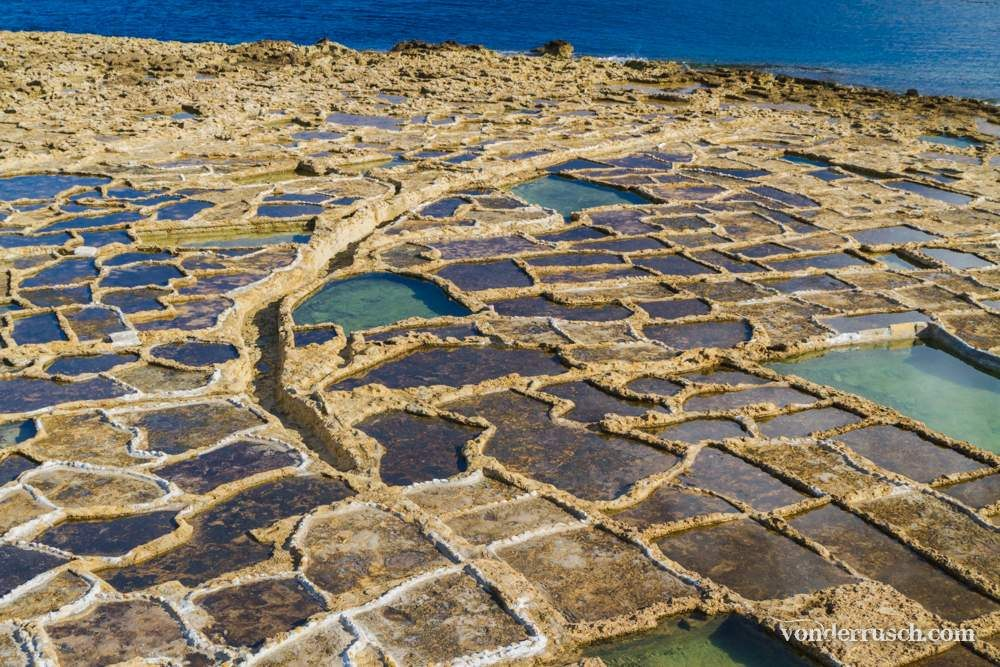 Xwejni Salt Pans     Gozo Malta