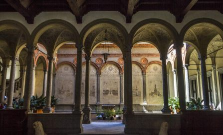Open courtyards in Milan