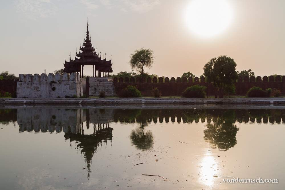 Palace Wall Reflection     Mandalay Myanmar