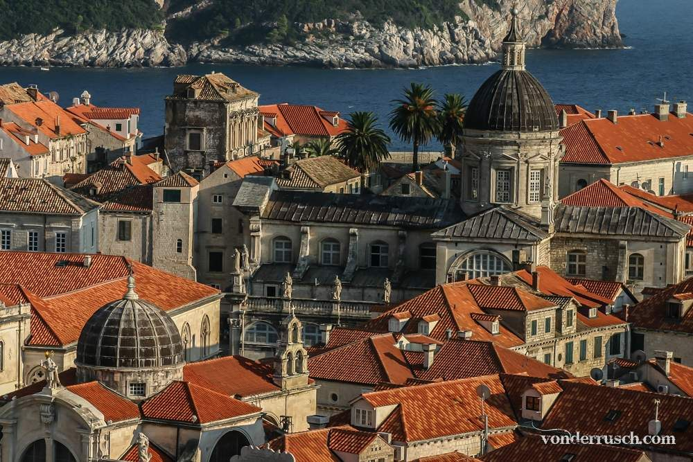 Domes and Palms     Dubrovnik Croatia