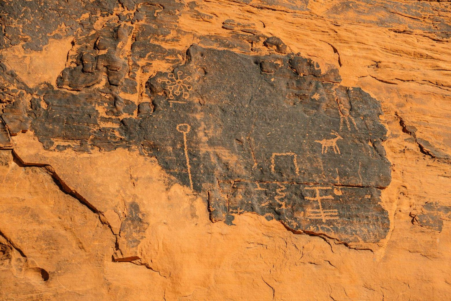 Petroglyphen im Valley of Fire State Park  Nevada
