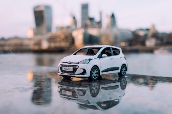 Hyundai i10 in the city