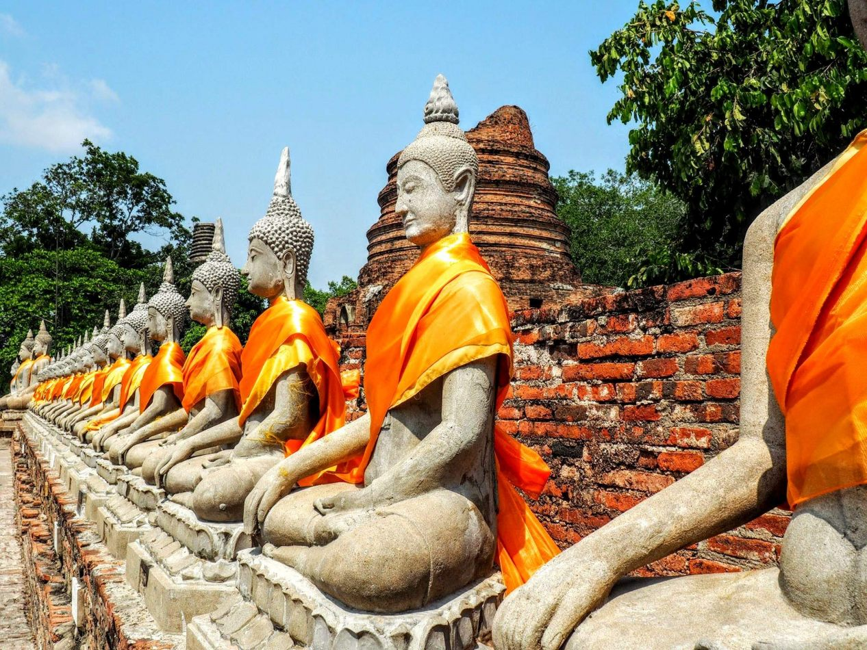 Hibiscus & Nomada : Thailand - Wat Yai Chaimongkol Ayutthaya