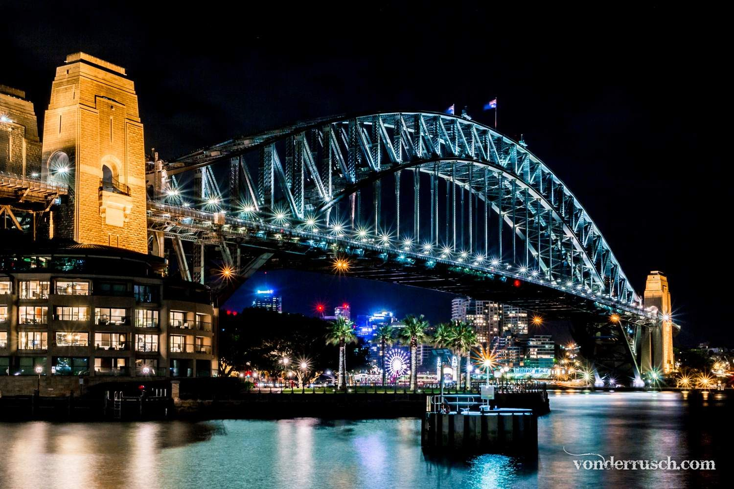 Harbour Bridge by Night     Sydney Australia