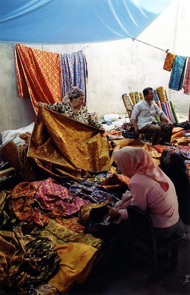 Anthony Ellis Photography: Tall Walls - Kashgar Cloth Market