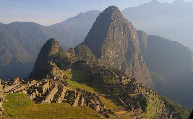 Peru Inca Ruins On The Ascent to Machu Picchu