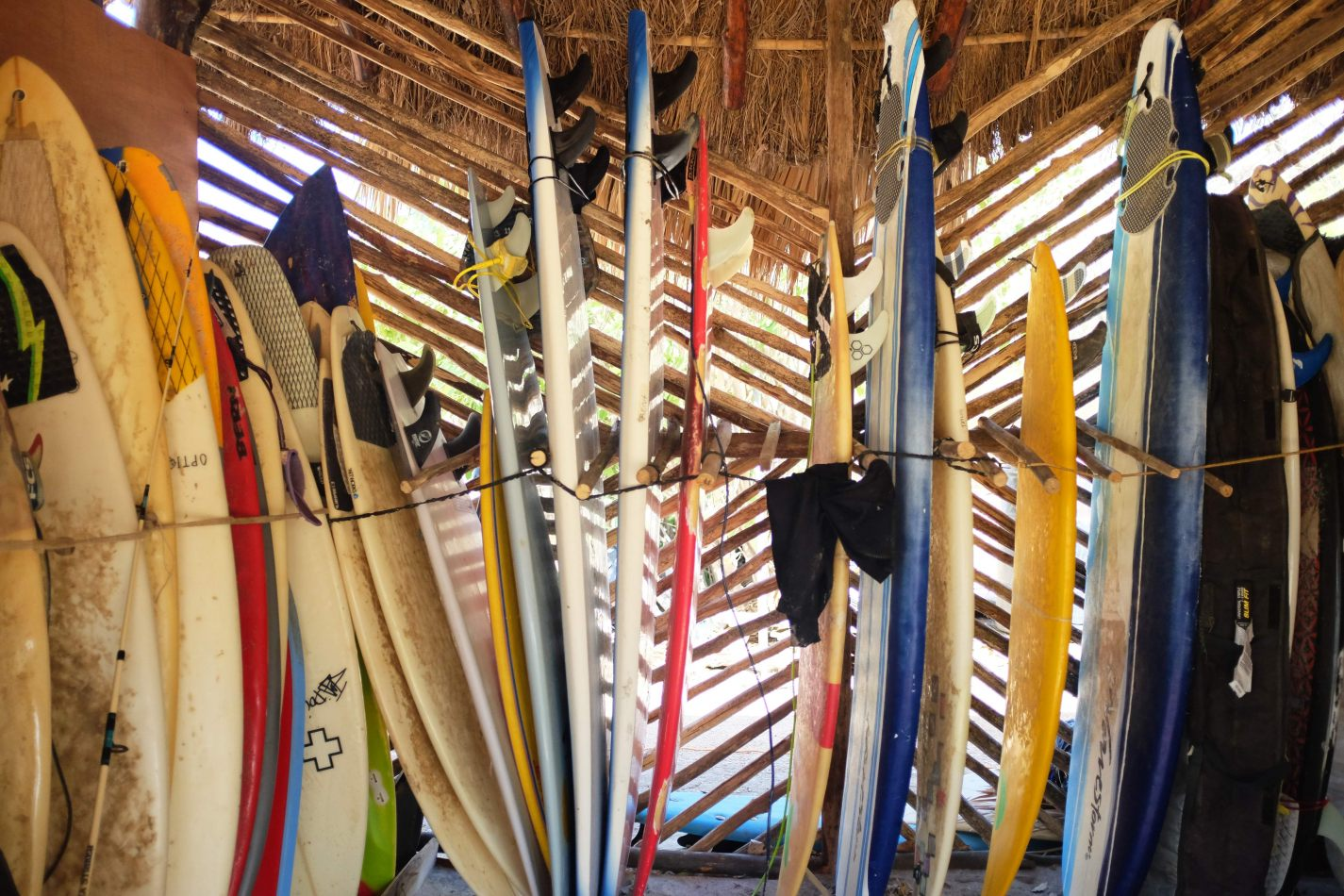 Hibiscus & Nomada : - - Surfboards at Camping La Luna